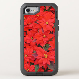Red Poinsettias I Christmas Holiday Floral Photo OtterBox Defender iPhone 8/7 Case