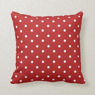 Red Polka Dot Home Decor Throw Pillow Cushion
