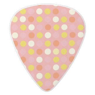 Red polka dots,fun, girly,happy,kids,cute,trendy white delrin guitar pick
