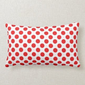 Red Polka Dots Lumbar Cushion