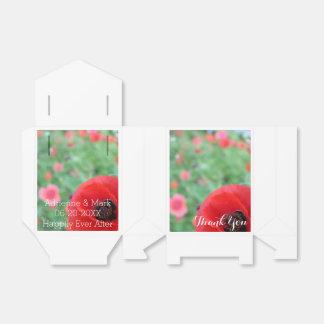 Red Poppy Favor Bag Wedding Favour Box