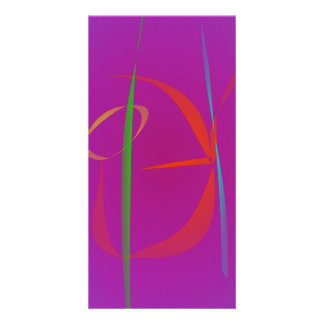 Red Prawn Abstract Image Personalized Photo Card