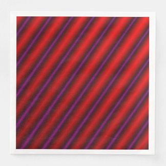 Red, Purple and Black Laser-Like Line Pattern Paper Napkins