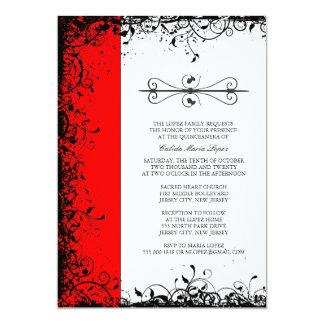 Red Quinceanera Invitations