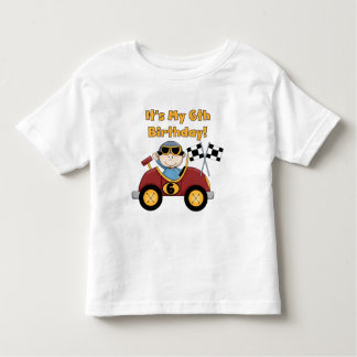 Red Race Car 6th Birthday  T-shirts and gifts
