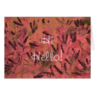 Red Rainbow Hi Hello Greeting Card by Janz