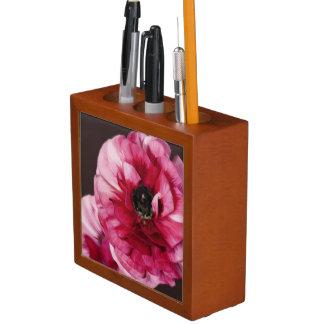 Red Ranunculus Desk Organiser