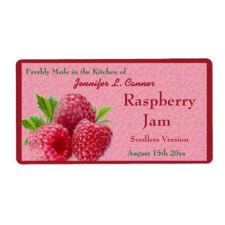 Red Raspberry Jam or Preserves Canning Jar