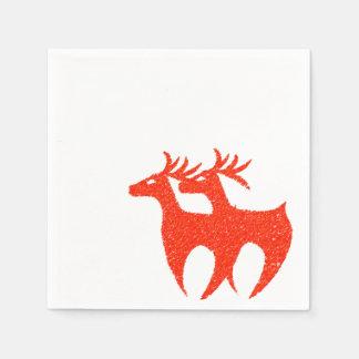 Red reindeer napkins Xmas Disposable Napkins