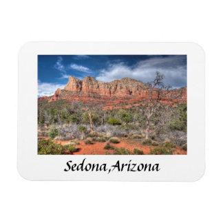 Red rock country Sedona Arizona Rectangular Photo Magnet