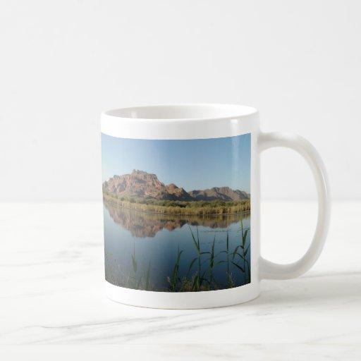 Red Rock Mountain behind the Lower Salt River Coffee Mug
