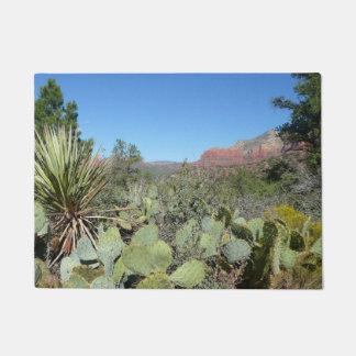 Red Rocks and Cacti I in Sedona Arizona Doormat