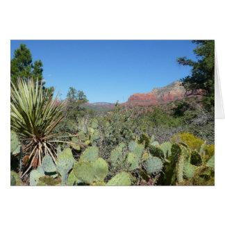 Red Rocks and Cacti I in Sedona Arizona Greeting Card