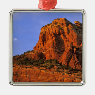 Red Rocks at Sterling Canyon in Sedona Arizona Silver-Colored Square Decoration