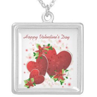 Red Romance Hearts Love Necklace