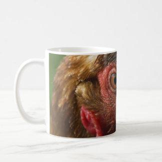 Red rooster basic white mug