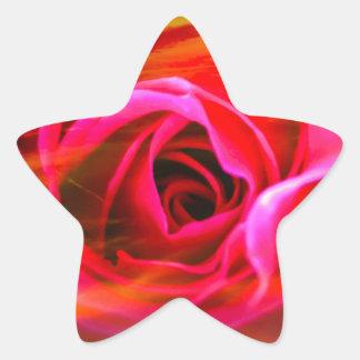 Red rose 2 star sticker