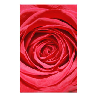 Red Rose Abstract Flower Petals Floral Patterns Stationery