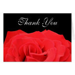 Red Rose and Black Thank You Greeting Card