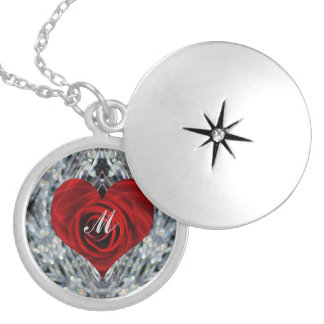 Red Rose and crystals Jewelry