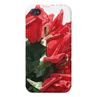 red rose bouquet customizable iPhone 4 covers