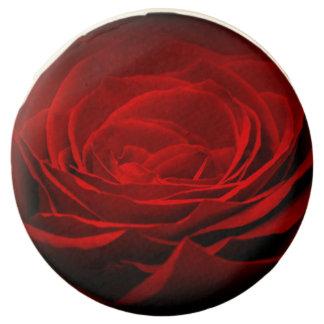 Red Rose Dipped Oreo Cookies, None Sprinkles,