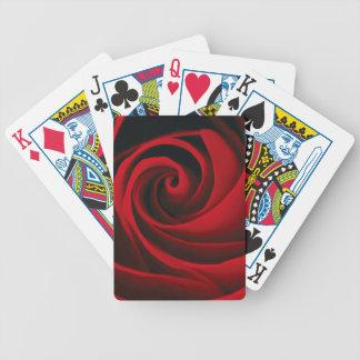 Red Rose Flower Swirl Classy Design Poker Deck