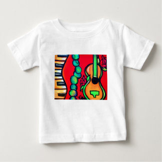 Red Rose Guitar Baby T-Shirt