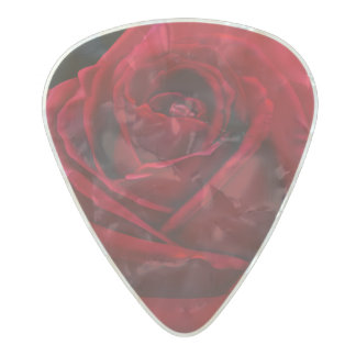 Red Rose Illustration Picks Pearl Celluloid Guitar Pick
