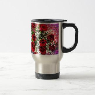 Red Rose Radiance Stainless Steel Travel Mug