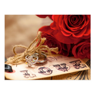 Red Rose Ring Postcard