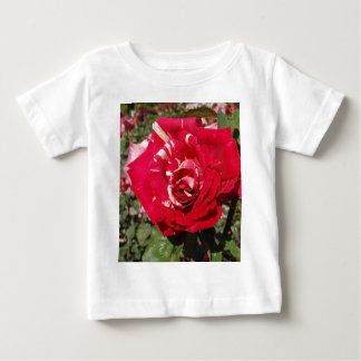 Red Rose With A Splash Of Cream Baby T-Shirt