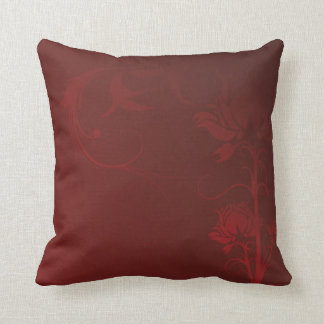 Red Roses and Swirls Pillow Cushions