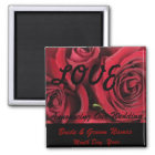 Red Roses LOVE Wedding Save the Date Magnet
