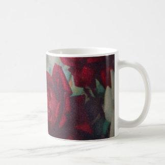 Red Roses Vintage Fabric Mug