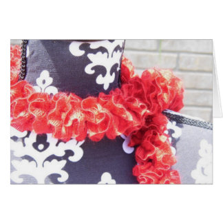 Red Ruffle Scarf Card