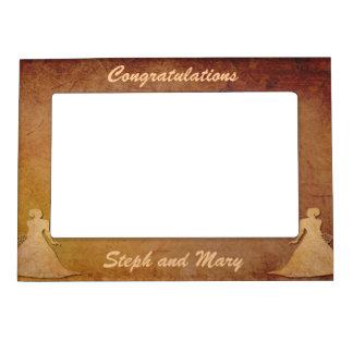 Red Rustic Lesbian Wedding Gift Frame