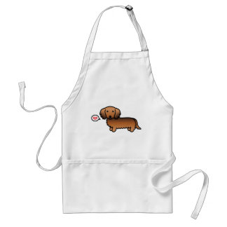 Red Sable Long Coat Dachshund With A Heart Standard Apron