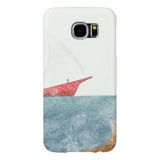 Red Sail Boat Colored Pencil Samsung Galaxy S6 Cases