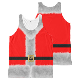 Red Santa Suit XL Custom Novelty Tank Top