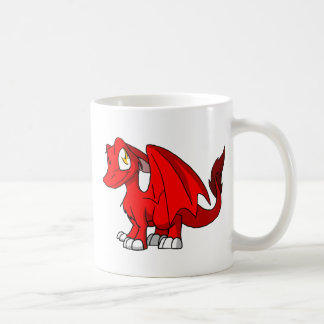 Red SD Furry Dragon Basic White Mug