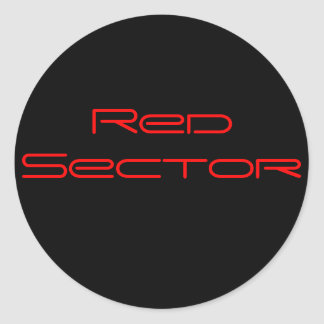 Red Sector Classic Round Sticker