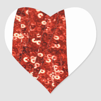 red sequin vintage pin up heart sticker