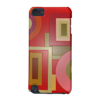 red shapes pop art iPod touch 5G cover