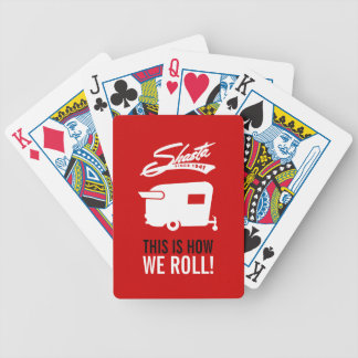 Red Shasta Camper RV Camping Cards Playing Cards