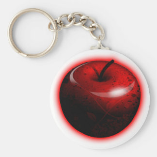 Red Shiny Apple -  Forbidden Fruit Key Ring