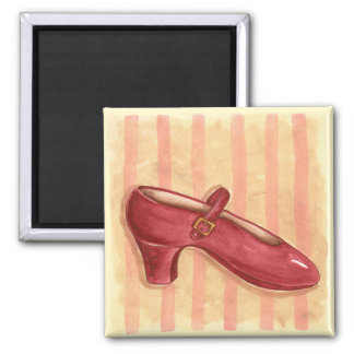 Red Shoe Square Magnet