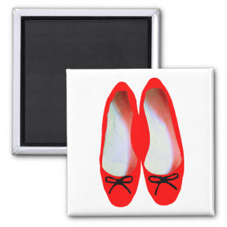 red shoes square magnet