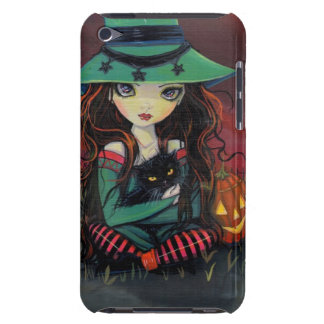 Red Skies of October Halloween Witch Art iPod Touch Case