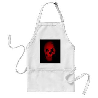 Red Skull Skeleton Apron
